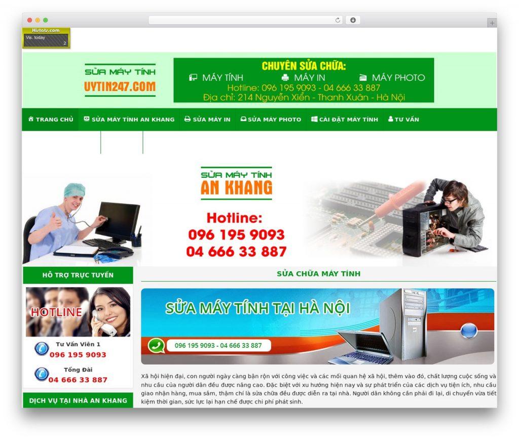 Thiết kế website sửa máy tính